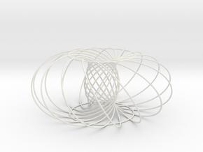 Dysontorus-ecc-0.600-tilt-60 in White Natural Versatile Plastic
