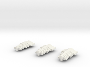 Fleet Scale Series 2 Alien Heavy Escorts in White Natural Versatile Plastic