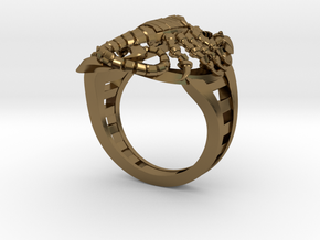 Mech Scorpion Ring Size 10 in Polished Bronze