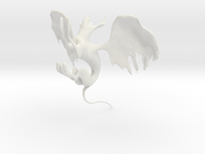 winged cat in White Natural Versatile Plastic