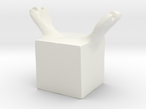 the cube loves you in White Natural Versatile Plastic