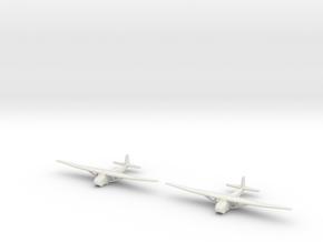 Me-321-German Glider X2 in White Natural Versatile Plastic