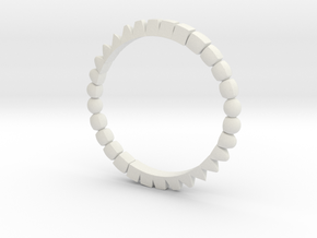 CubePrismSphere Ring in White Natural Versatile Plastic