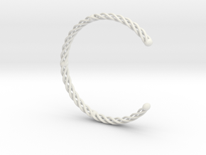 Spiral Bracelet Cuff Medium in White Natural Versatile Plastic