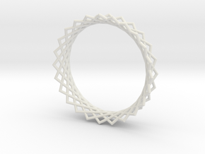Hyperboloid ring in White Natural Versatile Plastic
