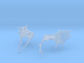 Ragged Monster Wings in Smooth Fine Detail Plastic