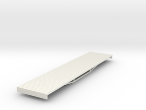 OO9 bogie flat (long) in White Natural Versatile Plastic