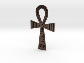 Egyptian Ankh Pendant in Polished Bronze Steel