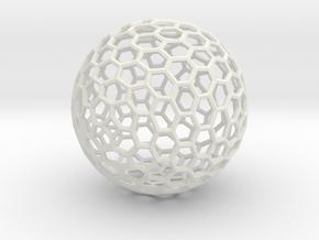 Sphere194 in White Natural Versatile Plastic