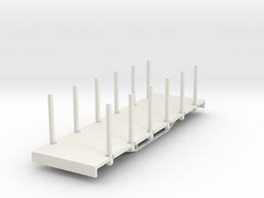 OO9 bogie flat with stakes  in White Strong & Flexible