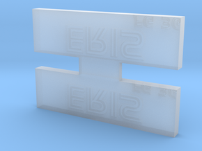 Eris Nameplate in Smooth Fine Detail Plastic