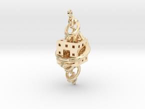 Fractal Earring - El corazón del matemático in 14K Yellow Gold