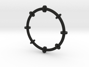 Fiddle toy bangle in Black Strong & Flexible