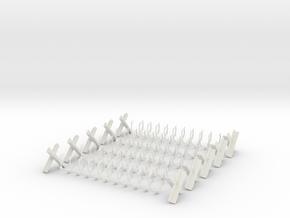 Razor Wire (Qty: 5) in White Natural Versatile Plastic