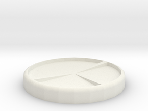 50mm Front Arc Base in White Natural Versatile Plastic