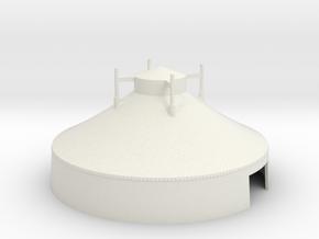Zelt  - 16 Meter - 1:220 (z scale) in White Natural Versatile Plastic