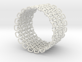 Stitch Bracelet - Large in White Natural Versatile Plastic