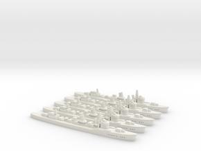 Inazuma (Fubuki III class) 1:1800 x5 in White Natural Versatile Plastic