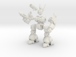 Poseable Robot in White Natural Versatile Plastic