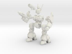 Poseable Robot in White Natural Versatile Plastic