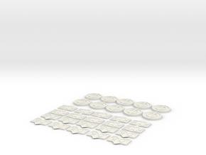 Magic the gathering counter bundle in White Natural Versatile Plastic