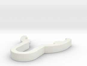 lanzatazos E in White Natural Versatile Plastic