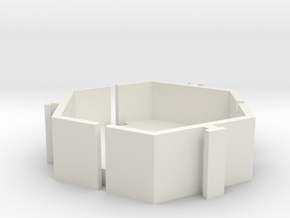 Mew Mew Desk Tidy 20mm in White Strong & Flexible