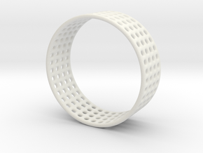 Porous ring in White Strong & Flexible