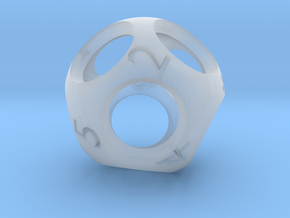 Hollow d9 - Nine-sided Die in Smooth Fine Detail Plastic