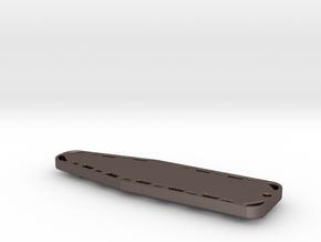 Backboard Keychain in Polished Bronzed Silver Steel