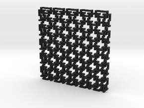 Square Maille - Flat N sampler in Black Strong & Flexible