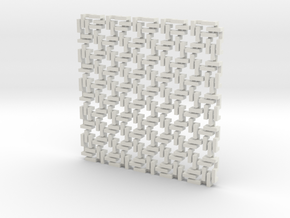 Square Maille - Flat N sampler in White Natural Versatile Plastic