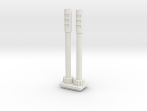 Cannons for Turret in White Natural Versatile Plastic