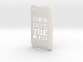 'Queen' iPhone 3GS Cover in White Natural Versatile Plastic