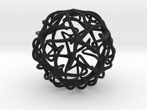 ball in Black Natural Versatile Plastic