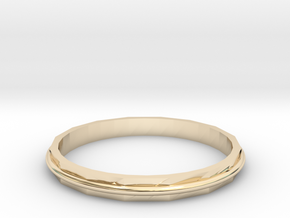 Square Two Ring - Sz. 8 in 14K Gold