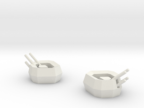 Wirbelwind AA gun turrets (6mm) in White Strong & Flexible