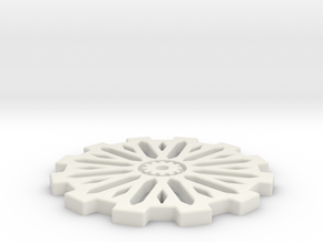50mm Gear Base in White Natural Versatile Plastic