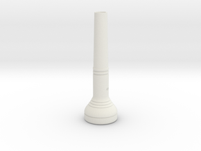 High Range Trumpet Mouthpiece in White Strong & Flexible
