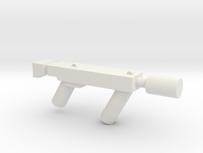 Sub Machine gun with Silencer in White Natural Versatile Plastic
