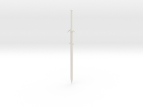Smaller Broadsword  in White Natural Versatile Plastic