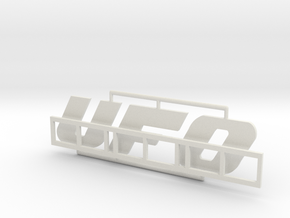 "Logo ""UFO"" für 1:87 (H0 scale) in White Natural Versatile Plastic"