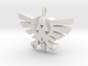 Hyrule Triforce Charm in White Natural Versatile Plastic