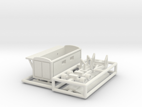 Toilettenwagen 2 - 1:220 (z scale) in White Natural Versatile Plastic