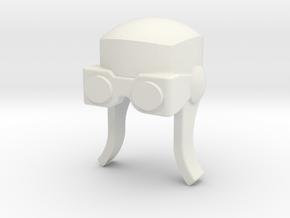 Aviator Helmet for ModiBot in White Natural Versatile Plastic
