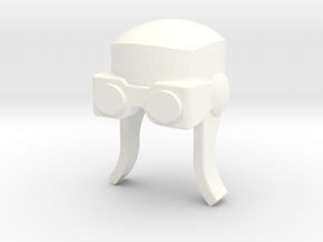 Aviator Helmet for ModiBot in White Strong & Flexible Polished