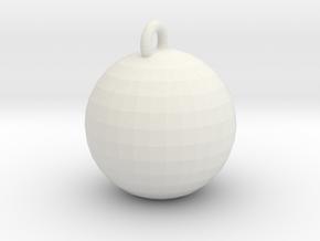 Xmas Ball in White Natural Versatile Plastic