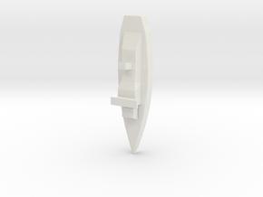 Mini Little Battleship in White Natural Versatile Plastic