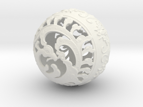Lucky Ball in White Natural Versatile Plastic