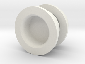 Salt And Pepper Caps in White Natural Versatile Plastic